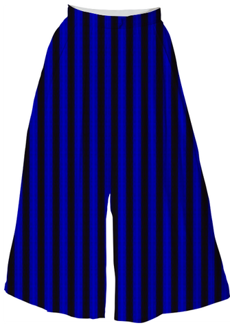 Suga Lane Blue Black Striped Culottes