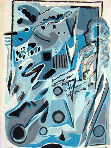 'Blue Lady' Original Abstract Painting