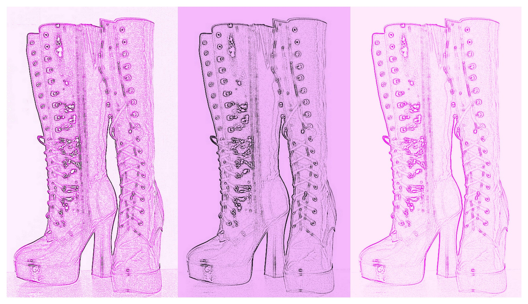 Goth Boots #2 [Limited Edition 1/10] by Alaina aka Suga Lane