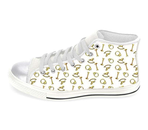 Suga Lane Brass Treasures High Top Sneakers