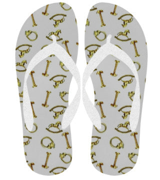 Suga Lane Brass Treasures Flip Flops