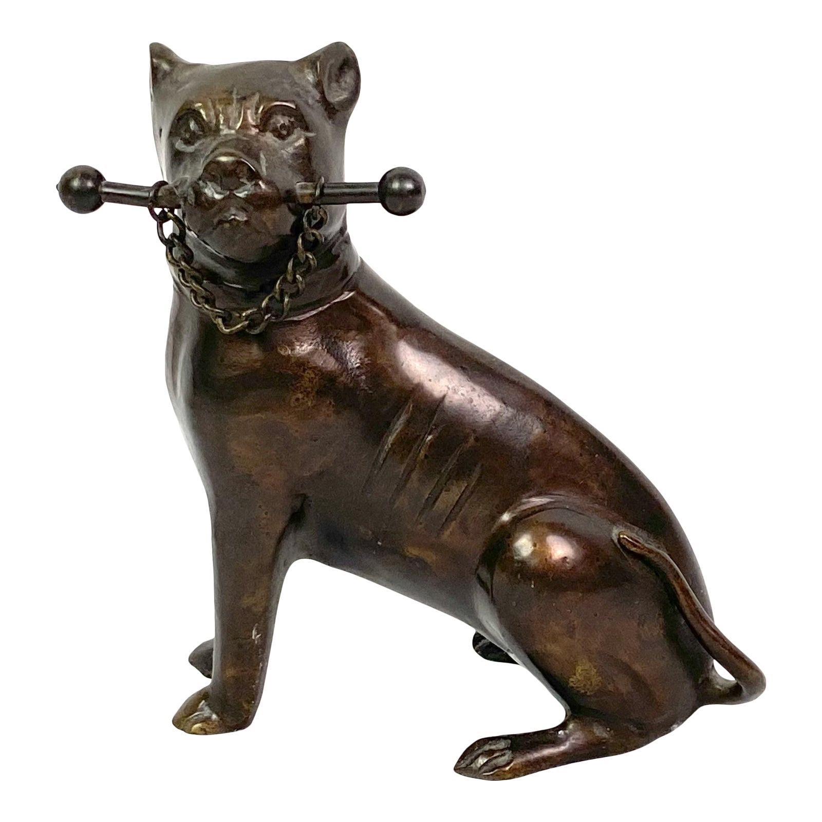 Bronze Dog Animal Figurine Statue