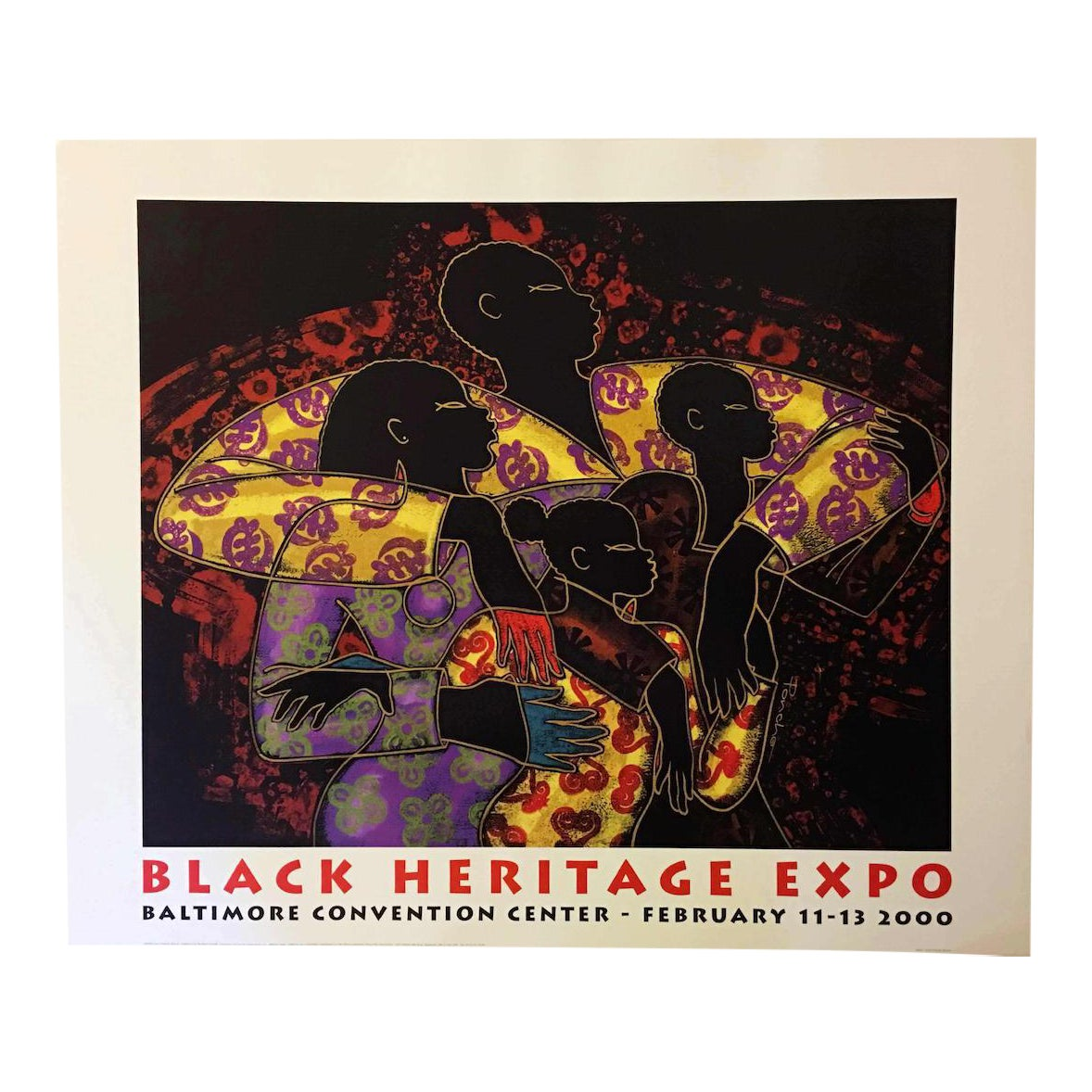 Contemporary Print of Black Heritage Expo by Larry Poncho Brown