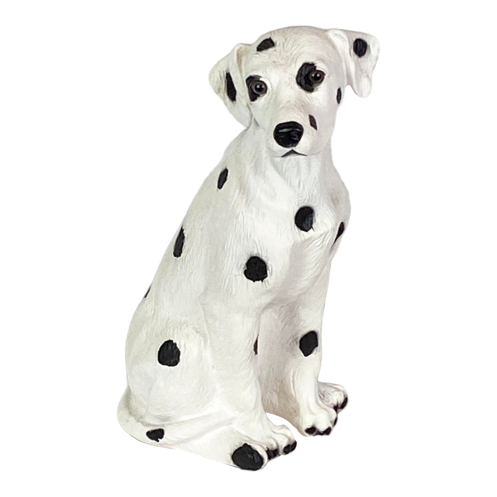Dalmation Dog White Black Statue