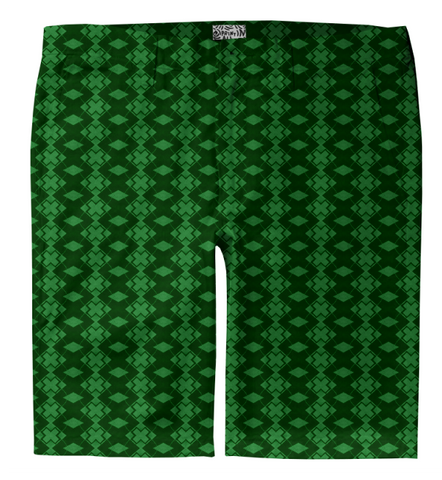 S. Lane Men Exes Trouser Shorts - Dark Green