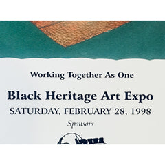 "Fennell ""Working Together as One"" Black Heritage Art Expo 1998 Poster Print"