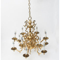 Flemish Dutch Baroque Gold Chandelier