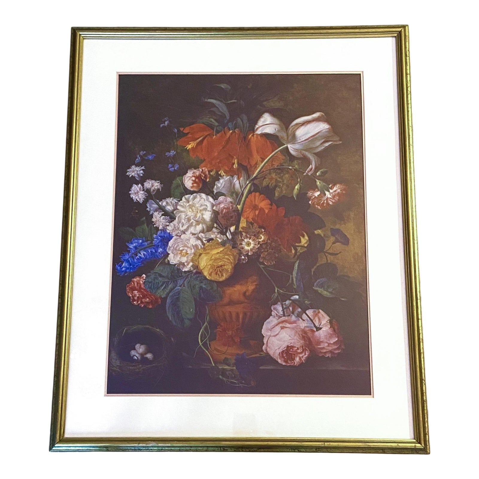 Classical Floral Flowers Still Life Framed Print