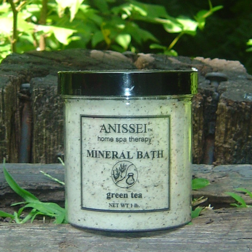 ANISSEI NATURALS HOME SPA THERAPY	GREEN TEA HERBAL MINERAL BATH 1lb