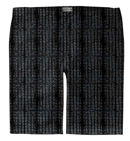S. Lane Men Grid Matrix Trouser Shorts - Black