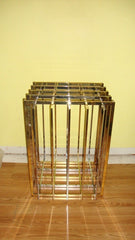 [SOLD] VINTAGE PIERRE CARDIN CHROME BRASS SCULPTURAL TABLE BASE 1970s
