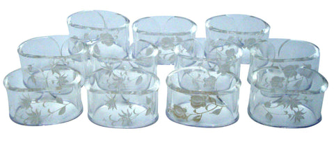 Hollywood Regency Lucite Floral Napkin Rings