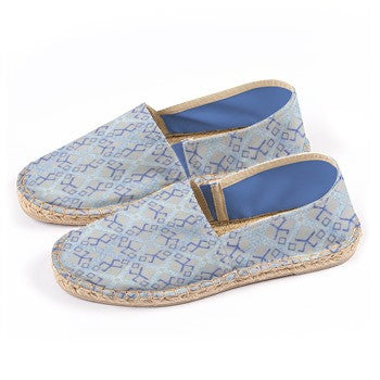 Suga Lane Logissimo Canvas Espadrilles - Ice Blue