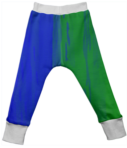 blue & green duality drop pants