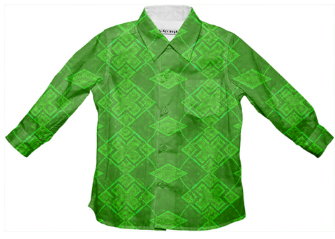 green exes button down shirt