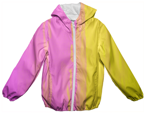 pink & gold yellow duality raincoat