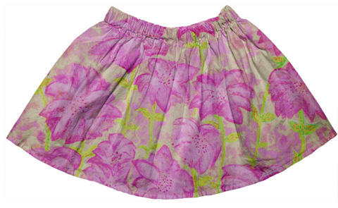 pink & yellow floral fireworks skirt
