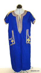 Exotic Cultural Festival Royal Blue Gold Dress