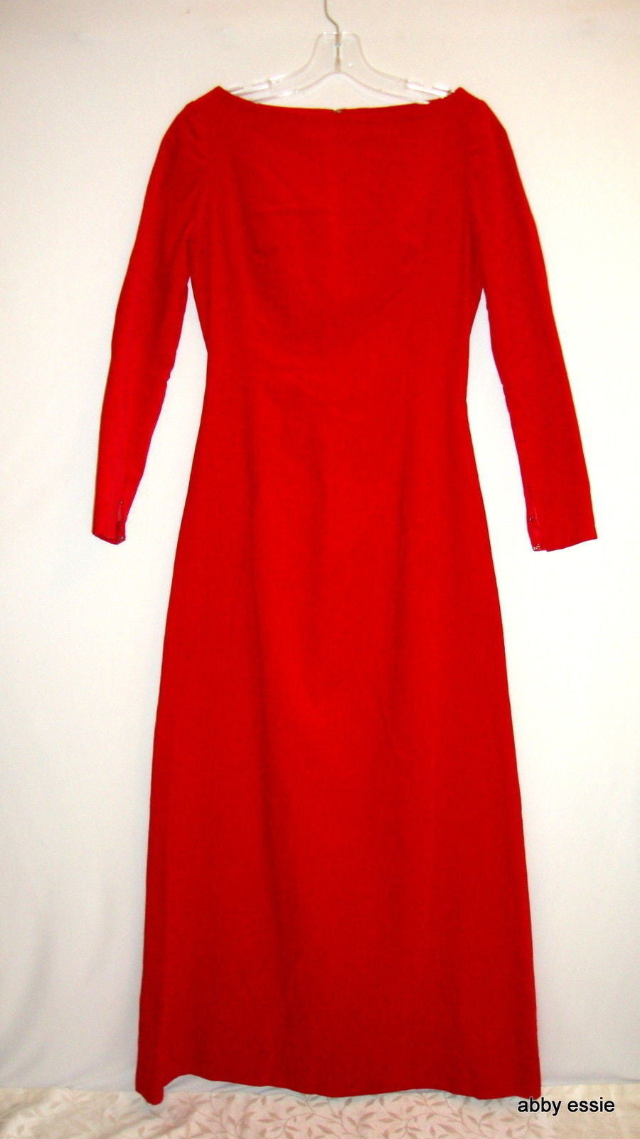 VTG CUSTOM COUTURE RED VELVET FORMAL GAME OF THRONES GOTH GOWN DRESS XS 0 2 4
