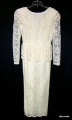 Vintage Cream White Peplum Great Gatsby Game Of Thrones Dress Gown