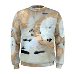 S. Lane Men Full Moon Mens Sweatshirt - White Gold Abstract
