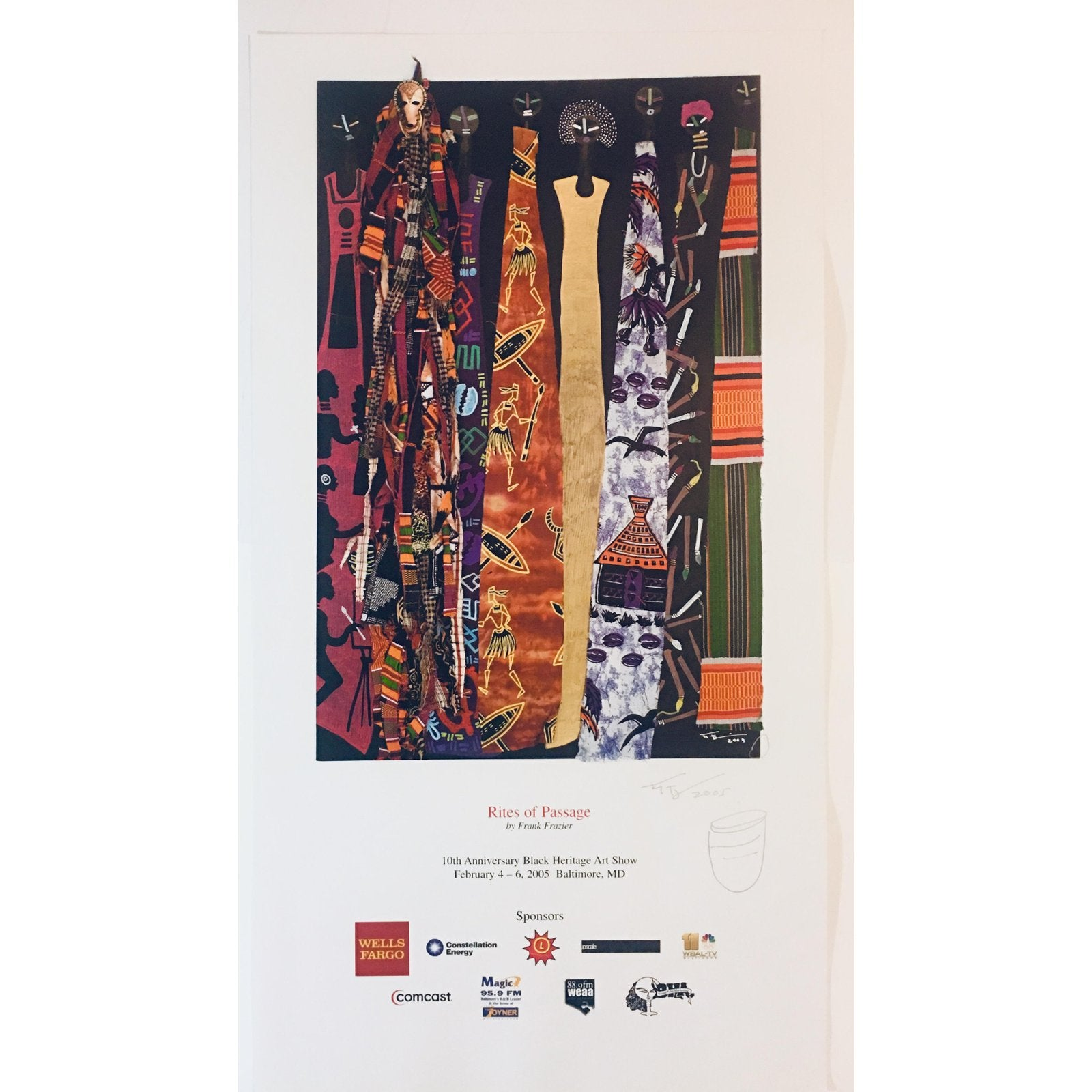 "Modern African American Heritage Art Show ""Rites of Passage"" Poster Print by Frank Frazier"