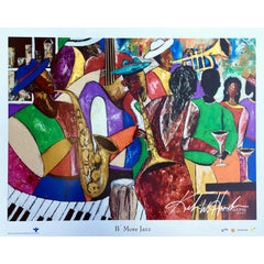 "Modern ""B' More Jazz"" Baltimore Black Arts Festival Poster by Keith Henderson"