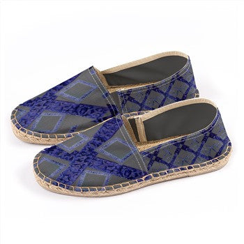 S. Lane Logissimo Canvas Espadrilles - Navy Blue Gray