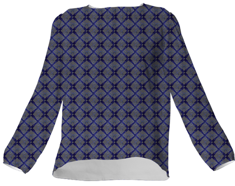 Navy Blue Logissimo Silk Blouse