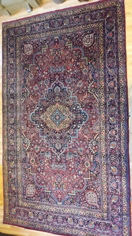Antique Persian Tabriz Meshed Mashad Carpet Rug Wool Hand Woven Arabian Bohemian