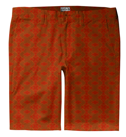 S. Lane Men Exes Trouser Shorts - Burnt Orange