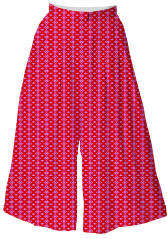 Suga Lane Red Pink Exes Culottes