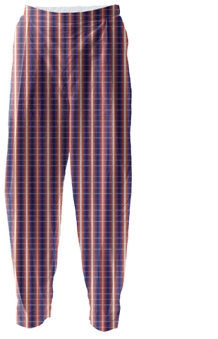 S. Lane Mens American Plaid Casual Relaxed Pants