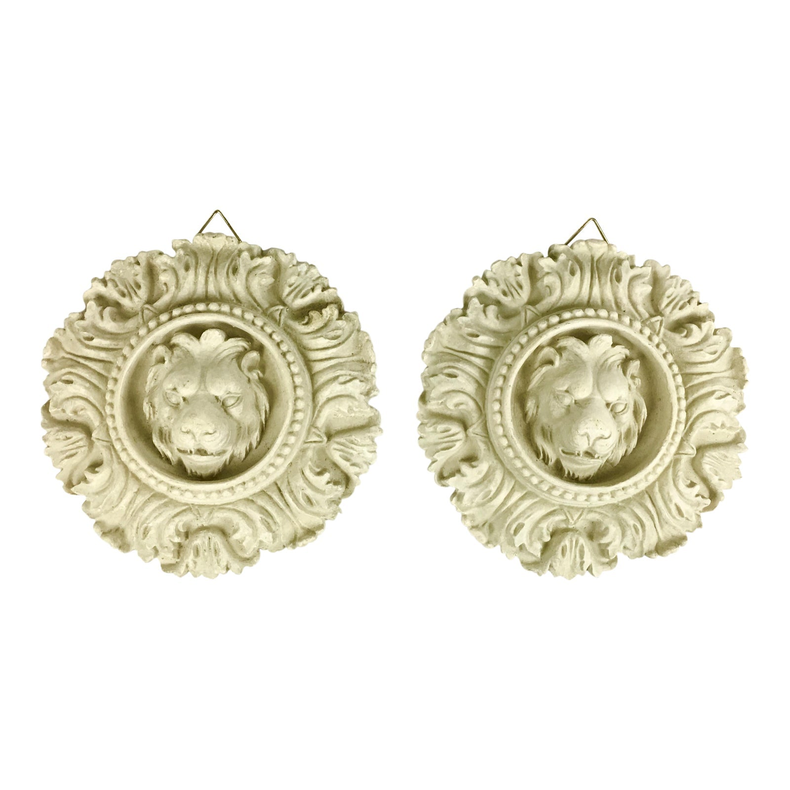 Rococo Lion Wall Accents - a Pair
