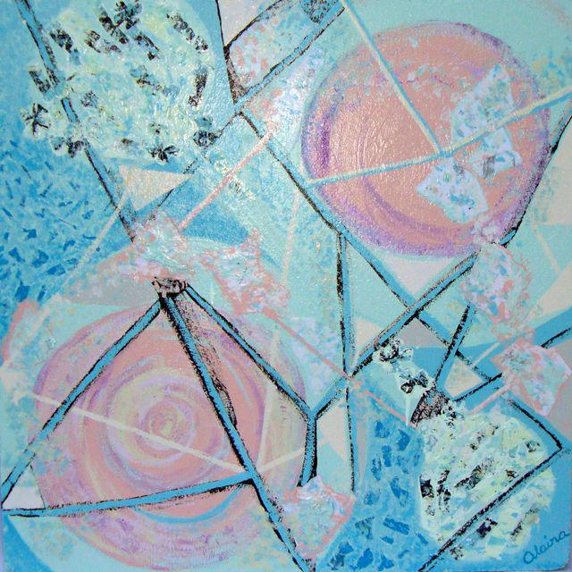 Feminine Constellation Painting Collage