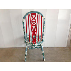 Hand Painted Farmhouse Windsor Chair Country Cottage Americana