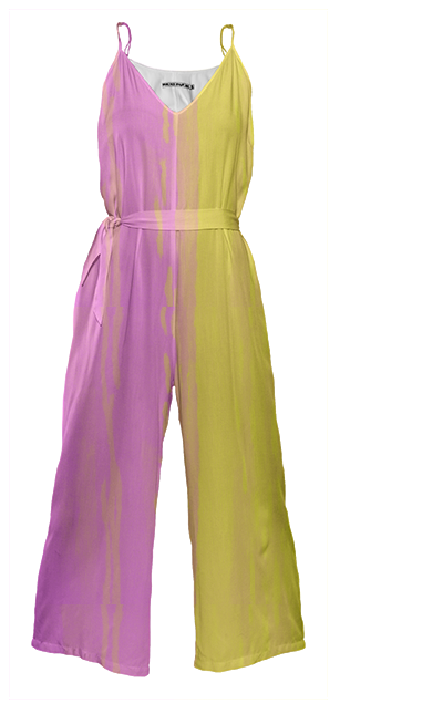 pink & yellow duality jumpsuit