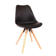 Design Lab MN LS-1000-BLKNAT Viborg Black Natural Dining Chair Set of 2
