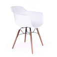 Design Lab MN LS-9341-WHTWAL Grazia White Walnut Dining Arm Chair Set of 4