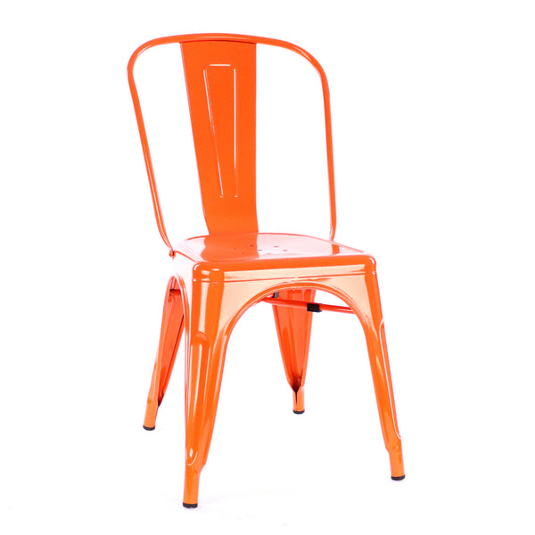 Design Lab MN LS-9000-MORA Dreux Orange Dining Chair Set of 4