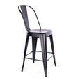 Design Lab MN LS-9112-MTBLK Dreux Matte Black High Back Counter Chair Set of 4