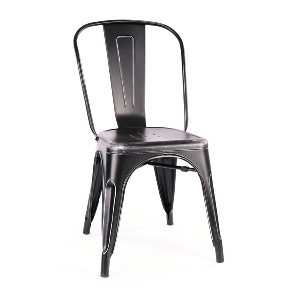 Design Lab MN LS-9000-BLKSLV Dreux Black Silver Dining Chair Set of 4