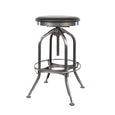 Design Lab MN LS-9200-GUNBLK Toledo Black/Gunmetal Adjustable Barstool