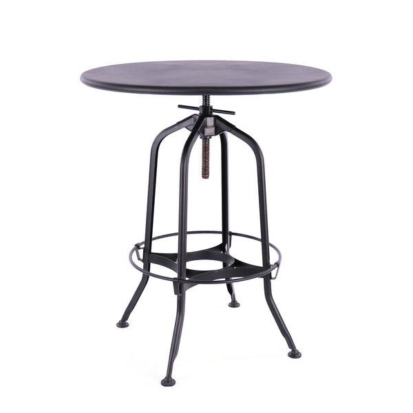 Design Lab MN LS-9212-BLK Toledo Matte Black Adjustable Bar Table