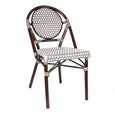 Design Lab MN LS-3001-GRYWHT Aluminum Bamboo Grey Patio Chair