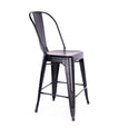 Design Lab MN LS-9111-MTBLK Dreux Matte Black High Back Counter Chair Set of 4