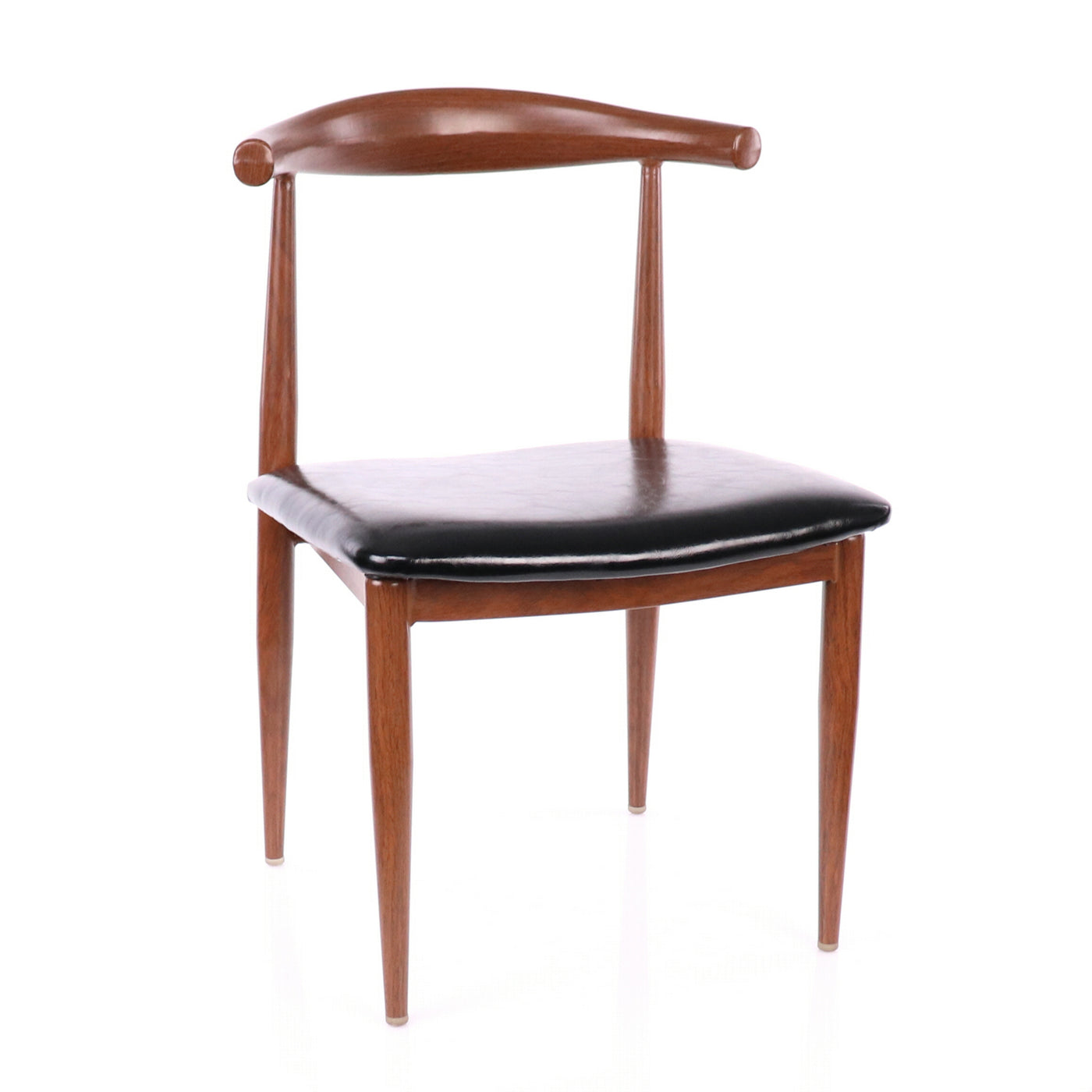 Design Lab MN LS-1013-WALBLK Elbow Walnut Black Dining Chair Set of 2