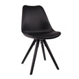 Design Lab MN LS-1000-BLKBLK Viborg Black/Black Dining Chair Set of 2