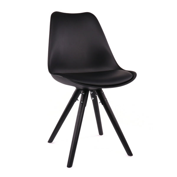 Design Lab MN LS-1000-BLKBLK Viborg Black Black Dining Chair Set of 2