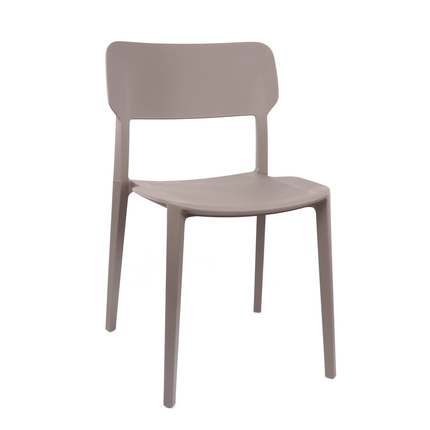 Design Lab MN LS-9605-GRY Viro Medium Grey Outdoor Dining Chair Set of 4